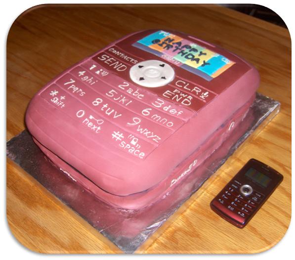 The Blain Family Cell Phone Cake